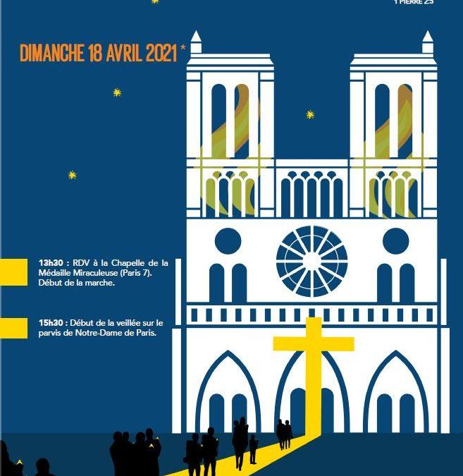 Marche vers Notre-Dame de Paris